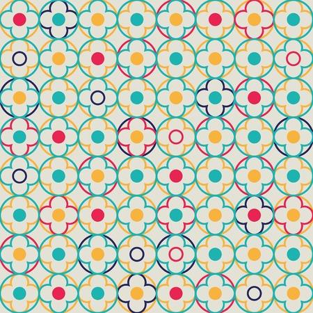 Funny quatrefoil lattice pattern  Seamless vector background  Vector