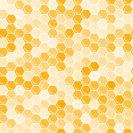 Orange honeycomb background. Abstract geometric vector illustration. Vector