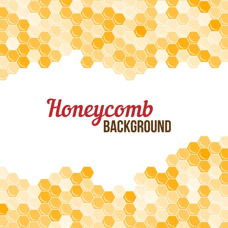 Orange honeycomb background. Abstract geometric vector illustration.