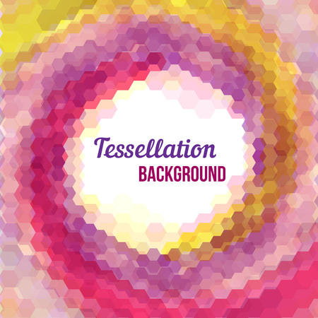 tessellation: Abstract background - colorful hexagon tessellation.