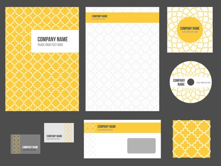 Corporate identity for company or event. Vector