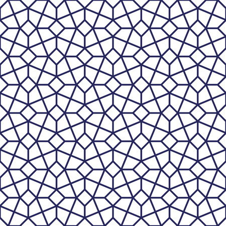 Intricated Geometric lattice pattern. Seamless vector background. Vector