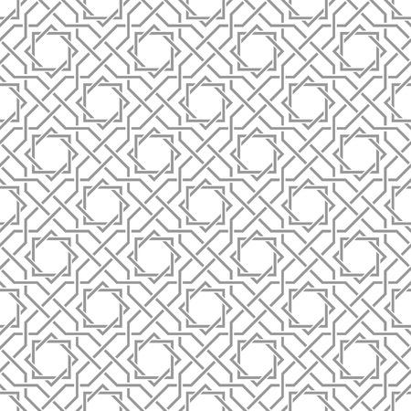 전통적인 아랍어 얽힌 패턴. 원활한 벡터 배경입니다. 일반 색상 - 칠하기 쉬운.