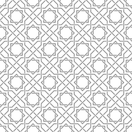 Traditional arabic tangled pattern. Seamless vector background. Plain colors - easy to recolor. Ilustração