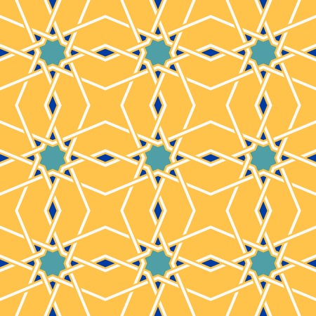 Traditional arabic tangled pattern