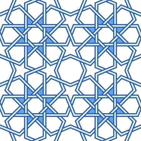 Traditional arabic tangled pattern Vector