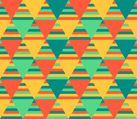 Abstract geometric seamless background - crazy colorful lines and triangles. Vector illustration. Vector