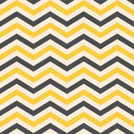 Fashion zigzag pattern in yellow colors, seamless  Çizim