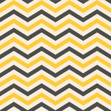 Fashion zigzag pattern in yellow colors, seamless  Illustration