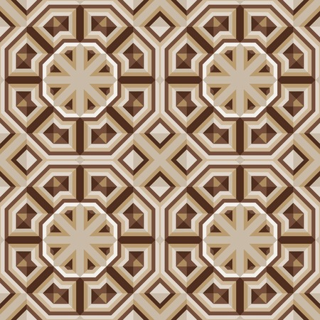 Vloertegels met abstract geometrisch patroon. Naadloze vector achtergrond.