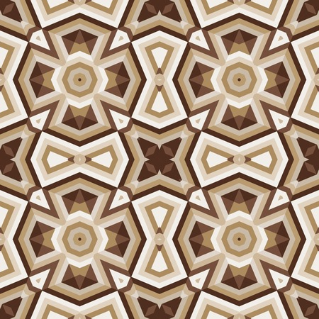 Floor tiles with abstract geometric pattern. Seamless vector background.