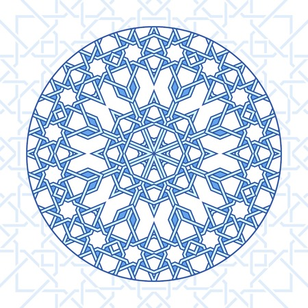moorish: Intricate moorish eastern pattern. Vector background. Plain colors - easy to recolor.