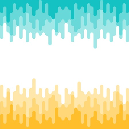 Abstract geometric pattern, seamless vector background in yellow and turquoise colors.