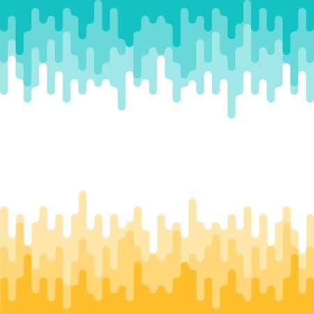 Modelo geométrico abstracto, fondo del vector en colores amarillo y turquesa. Vectores