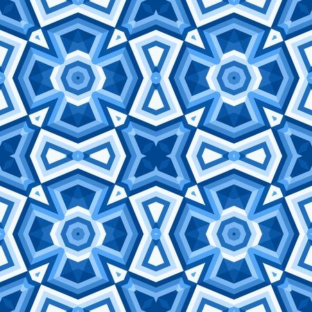 Vloertegels met abstracte geometrische patroon. Naadloze vector achtergrond.
