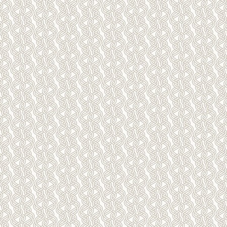 Abstract line background - Tangled knitted pattern. Seamless vector background. Two colors - easy to recolor. Illustration