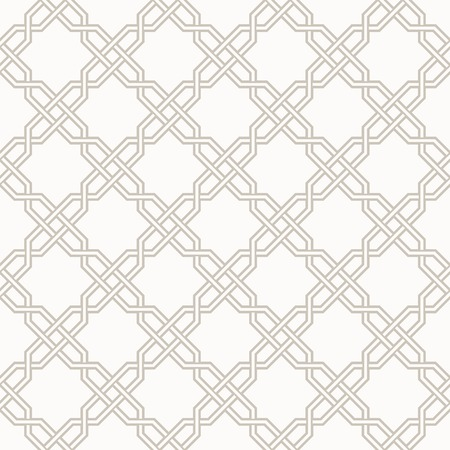 Tangled modern pattern, based on traditional oriental patterns. Seamless vector background. Two colors - easy to recolor. Vector