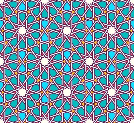 moorish: Traditional moorish tangled pattern Illustration