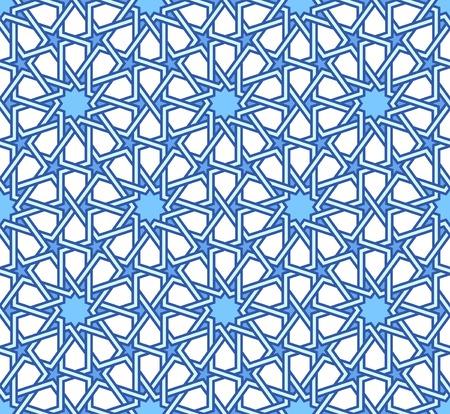 Traditional moorish tangled pattern 일러스트