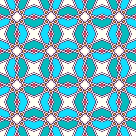 tangled: Traditional moorish tangled pattern. Seamless background