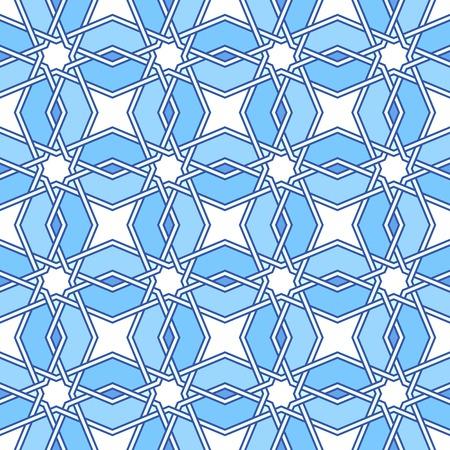 moorish: Traditional moorish tangled pattern. Seamless background