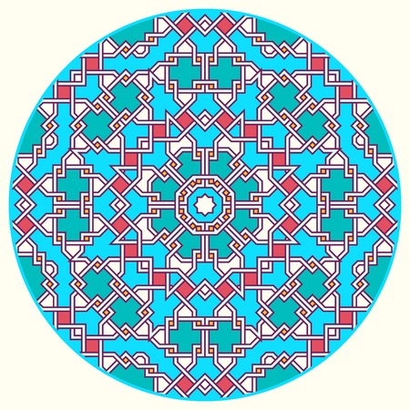 tangled: Tangled modern round pattern, based on traditional oriental patterns