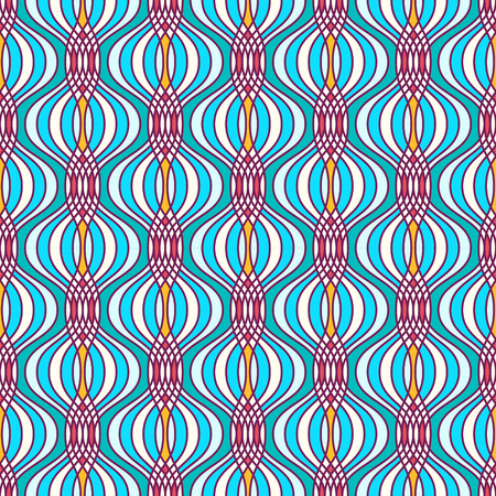 Abstract geometric ogee pattern. Seamless background.