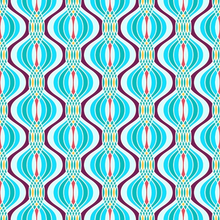 sine wave: Abstract geometric ogee pattern. Seamless background.
