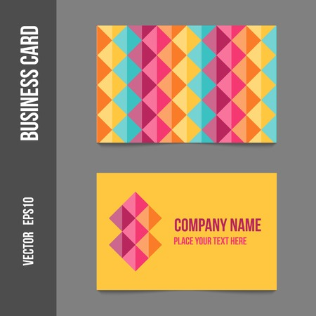 Corporate identity - business cards for company or event. Business stationery - vector template for print or web. Vector