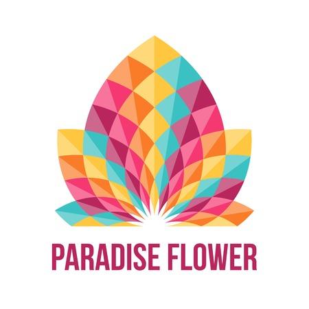 saludable logo: Flor geom�trica fant�stico. Resumen s�mbolo de la belleza. Ilustraci�n del vector.