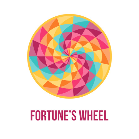 Fortune wheel - symbol of good luck - with bstract geometric pattern. Vector illustration.