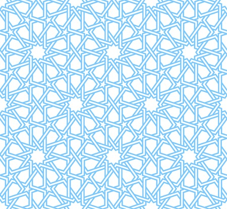 Traditional moorish tangled pattern. Seamless vector background. Plain colors - easy to recolor.