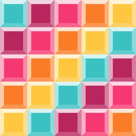diamond shaped: Geometric pattern like a colorful quilt with diamond shaped figures. Perfect for party desing. Colorful abstract vector background