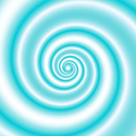Double colored twirl - white and turquoise (blue), sea wave. Abstract vector background.