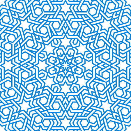 entwined: Tangled modern pattern, based on traditional oriental arabic patterns. Seamless vector background. Plain colors - easy to recolor.