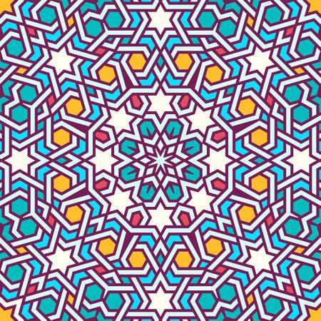keltische muster: Tangled modernes Muster, basierend auf traditionellen orientalischen arabischen Mustern. Nahtlose Vektor Hintergrund. Unifarben - Einfach zu Farbveränderung.