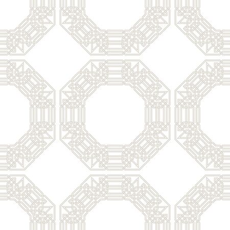 entwined: Tangled modern pattern, based on traditional oriental patterns. Seamless vector background. Two colors - easy to recolor.