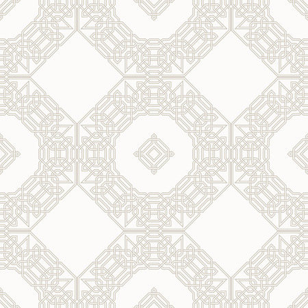 moorish: Tangled modern pattern, based on traditional oriental patterns. Seamless vector background. Two colors - easy to recolor.