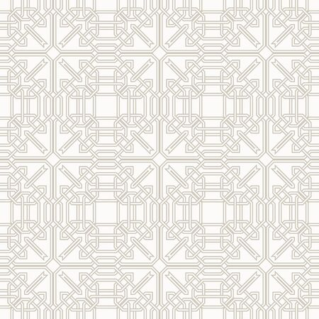 moorish: Tangled modern pattern based on traditional oriental patterns. Seamless vector background. Two colors  easy to recolor.