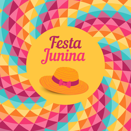 Festa Junina illustration  traditional Brazil june festival party  Midsummer holiday. Vector illustration.