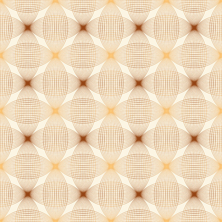 waves pattern: Design elements - tangled brown waves pattern. Seamless background with thin brown and sandy lines. Vector illustration.