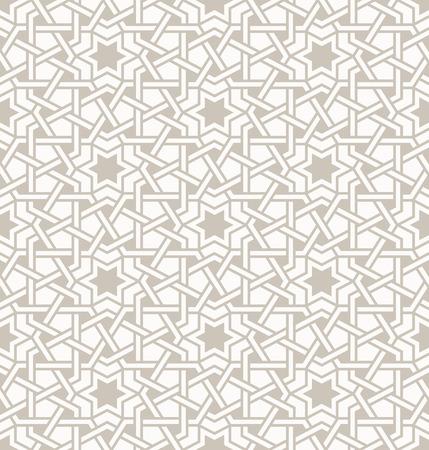 Modelo moderno Enredado, basado en patrones árabes orientales tradicionales. Fondo inconsútil del vector. Colores lisos - fácil de cambiar el color. Ilustración de vector