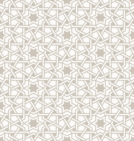 Tangled modern pattern, based on traditional oriental arabic patterns. Seamless vector background. Plain colors - easy to recolor.