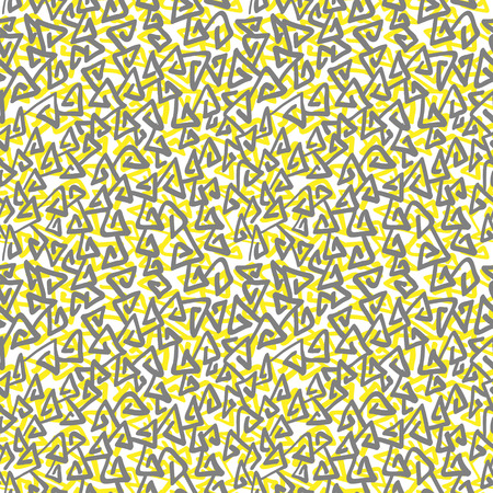 swooshes: Abstract hand drawn doodle pattern, triangular flourishes. Seamless vector background.
