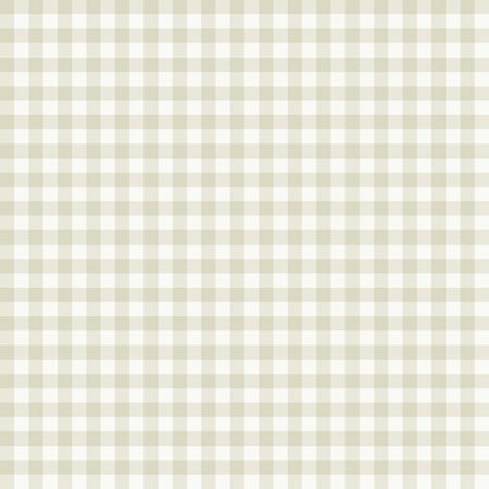 Traditional Gingham pattern in beige color. Seamless checkered vector pattern. Abstract geometric background.