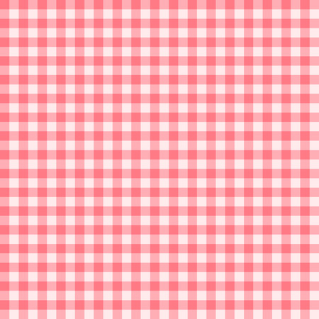 gingham pattern: Traditional Gingham pattern in light red color. Seamless checkered vector pattern. Abstract geometric background.