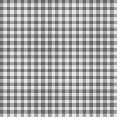 Traditional Gingham pattern in gray color. Seamless checkered vector pattern. Abstract geometric background. Stock Illustratie