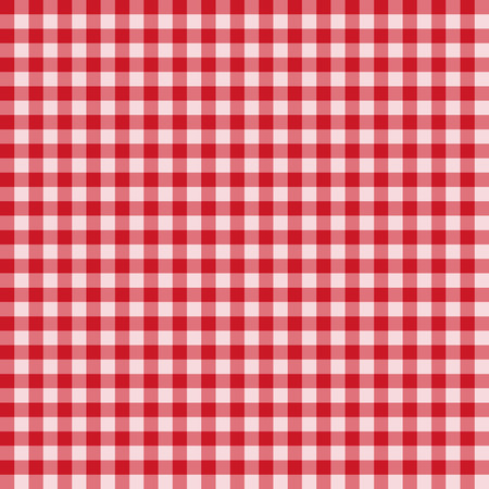 gingham pattern: Traditional Gingham pattern in red color. Seamless checkered vector pattern. Abstract geometric background. Illustration