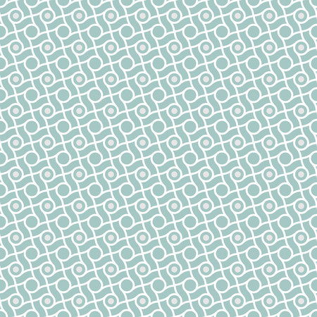 patron retro: Abstract geometric retro pattern, lines and circles.  Seamless vector background. Plain colors - easy to recolor. Vectores