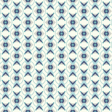seventies: Pattern with abstract  ditsy flowers in teal colors. Seamless vector background.